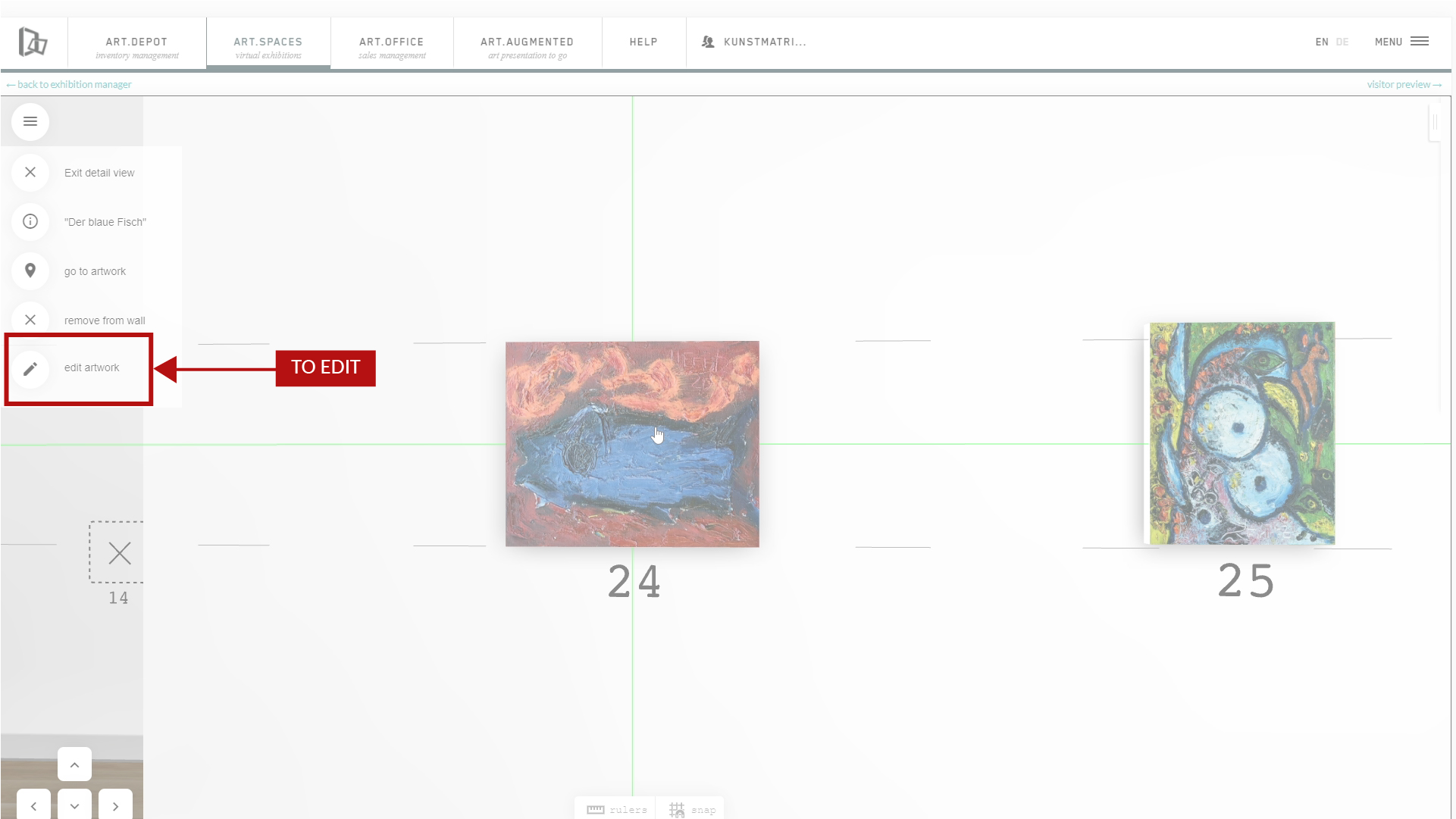 howto:  edit and adjust artworks