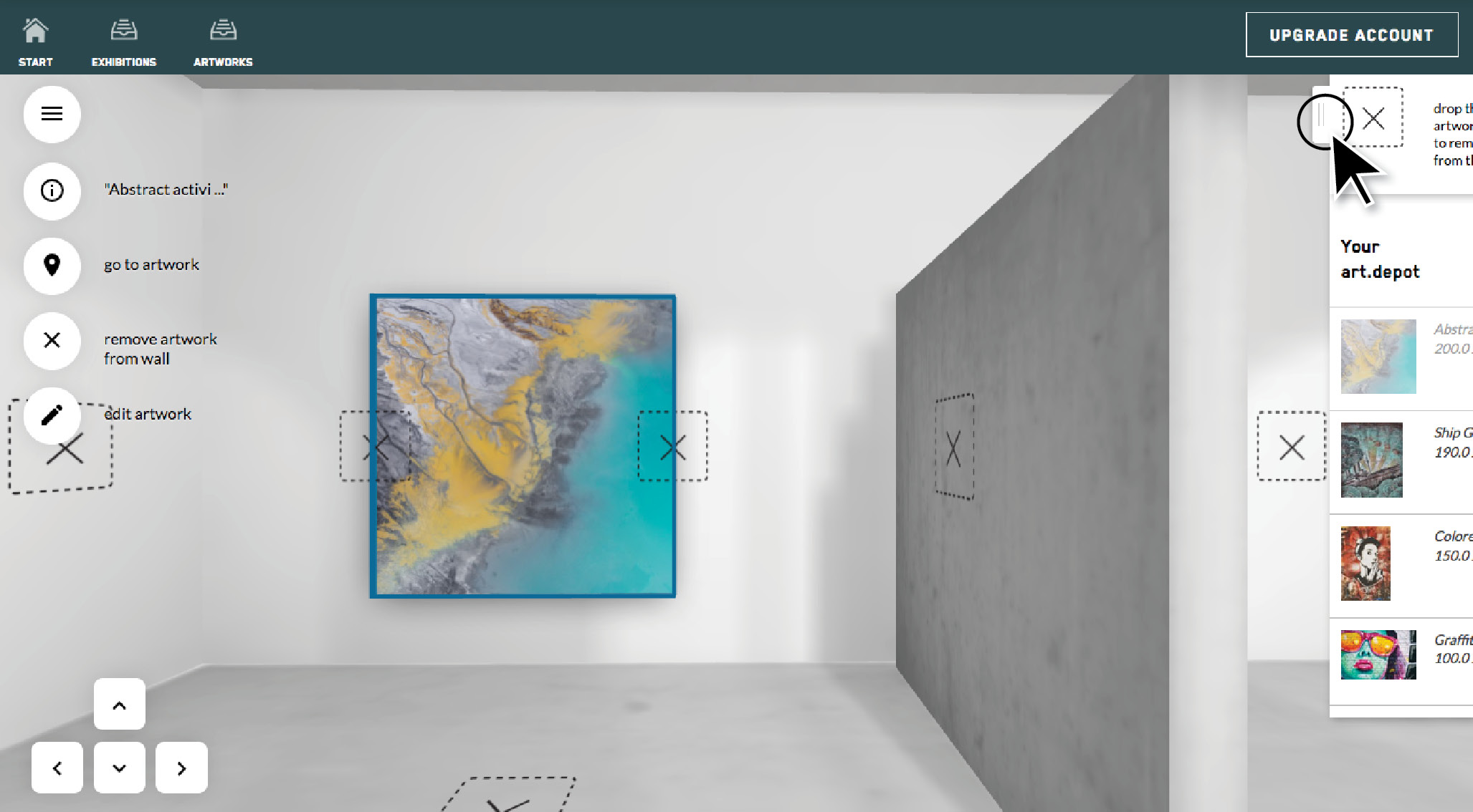 howto:  creation of a 3D exhibition